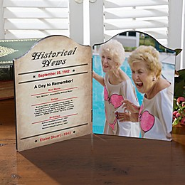 Personalized The Day You Were Born Photo Plaque