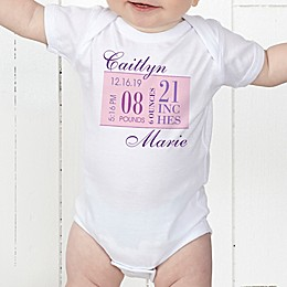 Baby's Big Day Personalized Baby Girl Bodysuit