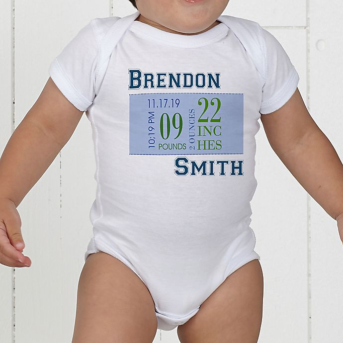 Alternate image 1 for Baby's Big Day Personalized Baby Boy Bodysuit
