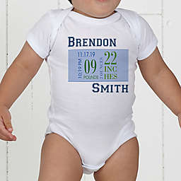 Baby's Big Day Personalized Baby Boy Bodysuit
