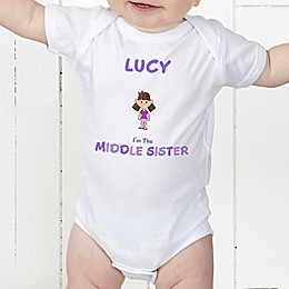 Sister Character Personalized Baby Bodysuit