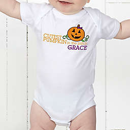 Cutest Pumpkin In The Patch Personalized Baby Bodysuit