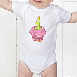 My Little Cupcake Personalized Birthday Baby Bodysuit