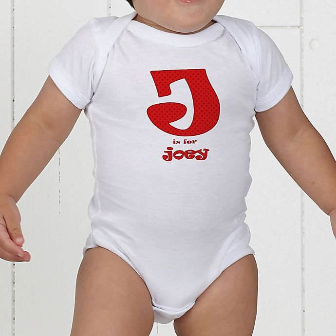 Alternate image 1 for Alphabet Name Personalized Baby Bodysuit