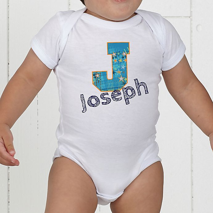 Alternate image 1 for His Name Personalized Baby Bodysuit