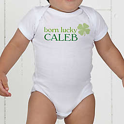 Born Lucky Personalized Baby Bodysuit