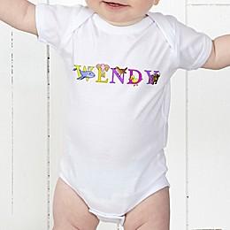 Alphabet Animals Personalized Baby Bodysuit