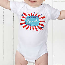My First 4th Of July Personalized Baby Bodysuit