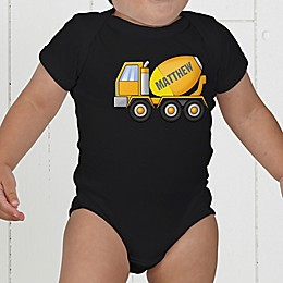 Construction Trucks Personalized Baby Bodysuit