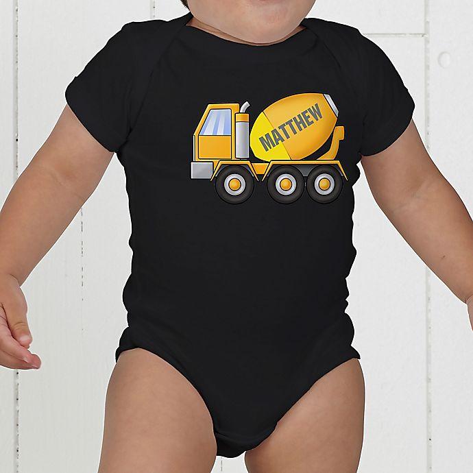 Alternate image 1 for Construction Trucks Personalized Baby Bodysuit