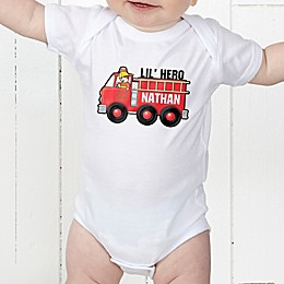 Jr. Firefighter Personalized Baby Bodysuit