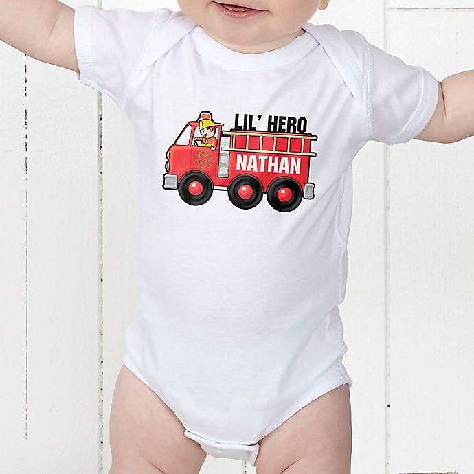 Alternate image 1 for Jr. Firefighter Personalized Baby Bodysuit