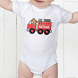 Jr. Firefighter Personalized Baby Bodysuit