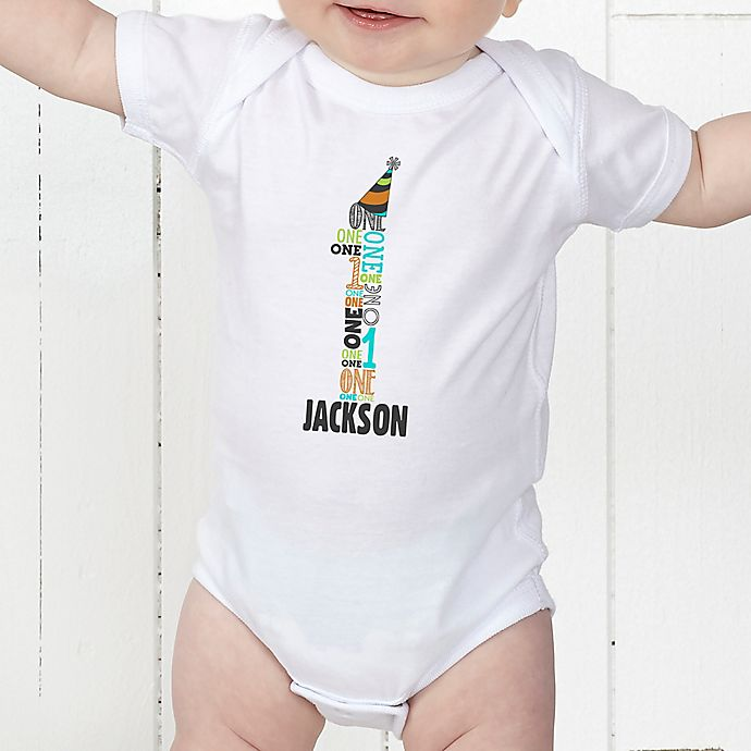 Alternate image 1 for It's My Birthday Personalized Baby Bodysuit