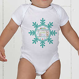 Baby's First Christmas Personalized Baby Bodysuit