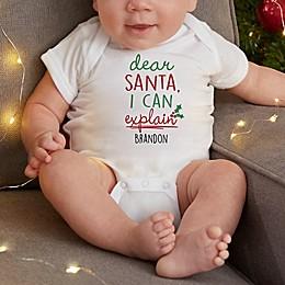Dear Santa Personalized Baby Bodysuit