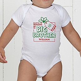 Promoted By Santa Personalized Baby Bodysuit