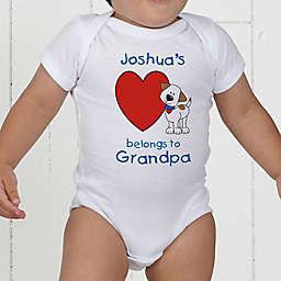 Puppy Heart Belongs Personalized Baby Bodysuit