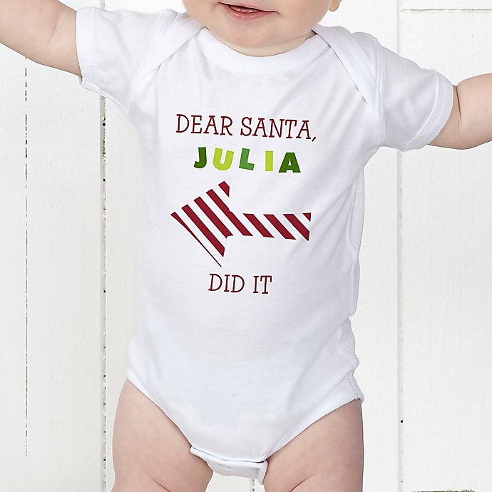 Alternate image 1 for Dear Santa Personalized Baby Bodysuit