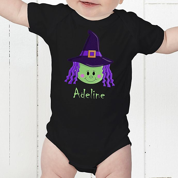 Alternate image 1 for Lil' Witch Infant Personalized Baby Bodysuit