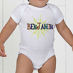 Spider Webs for Him Personalized Baby Bodysuit