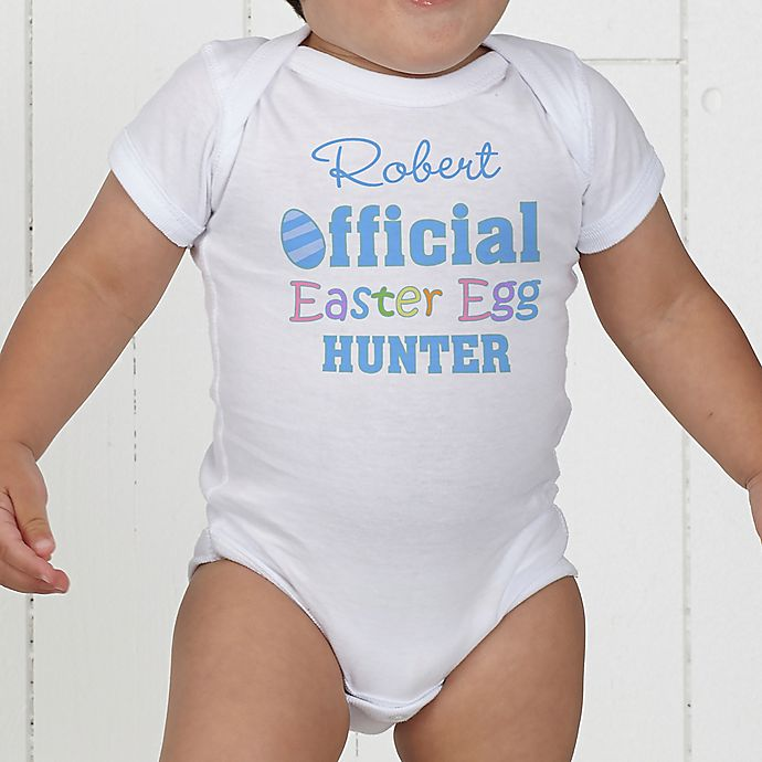 Alternate image 1 for Official Egg Hunter Personalized Baby Bodysuit