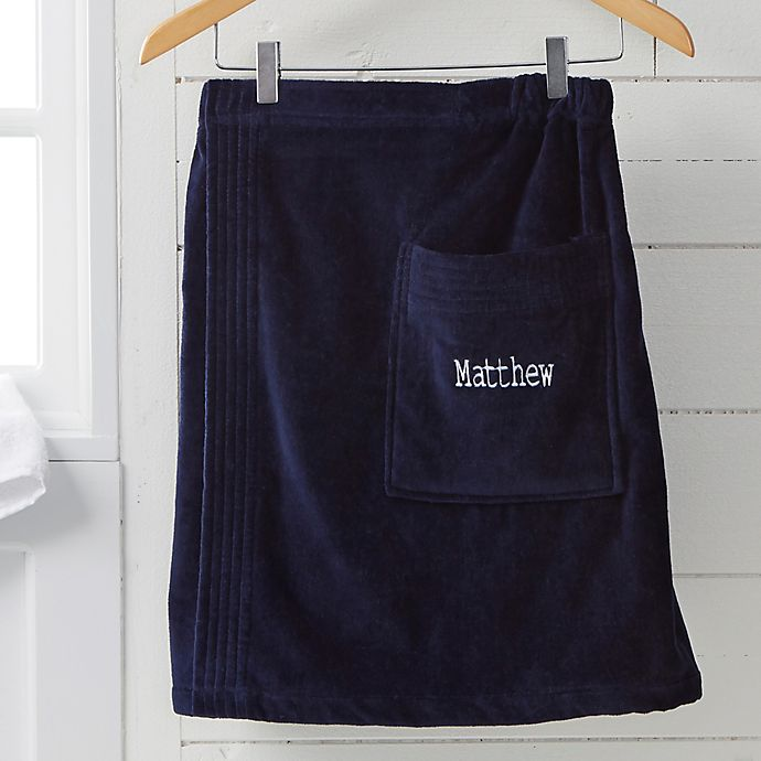 Alternate image 1 for Men's Embroidered Name Towel Wrap
