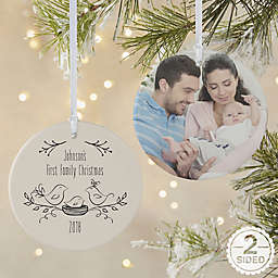 Our 1st Family 2-Sided Matte Christmas Ornament