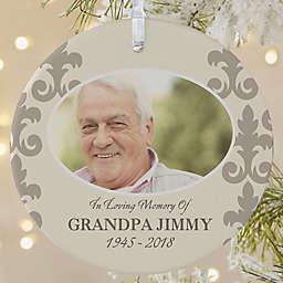 In Loving Memory for Him 1-Sided Matte Memorial Christmas Ornament