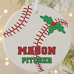 Baseball 1-Sided Matte Christmas Ornament