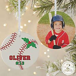 Baseball 2-Sided Matte Christmas Ornament