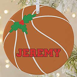 Basketball 1-Sided Matte Christmas Ornament