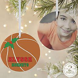 Basketball 2-Sided Matte Christmas Ornament