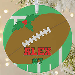 Football 1-Sided Matte Christmas Ornament