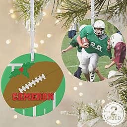 Football 2-Sided Matte Christmas Ornament