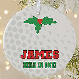 Golf 1-Sided Matte Christmas Ornament