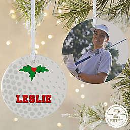 Golf 2-Sided Matte Christmas Ornament