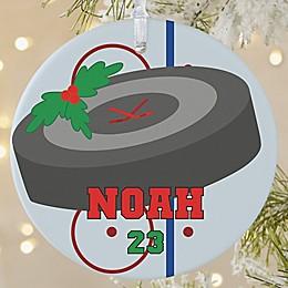 Hockey 1-Sided Matte Christmas Ornament
