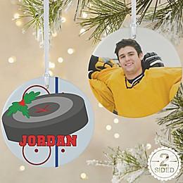 Hockey 2-Sided Matte Christmas Ornament