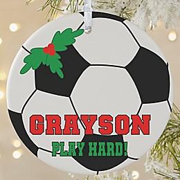 Soccer 1-Sided Matte Christmas Ornament