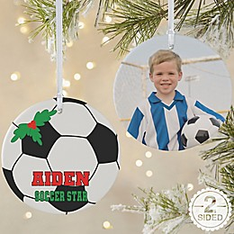 Soccer 2-Sided Matte Christmas Ornament