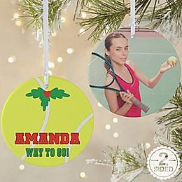 Tennis 2-Sided Matte Christmas Ornament