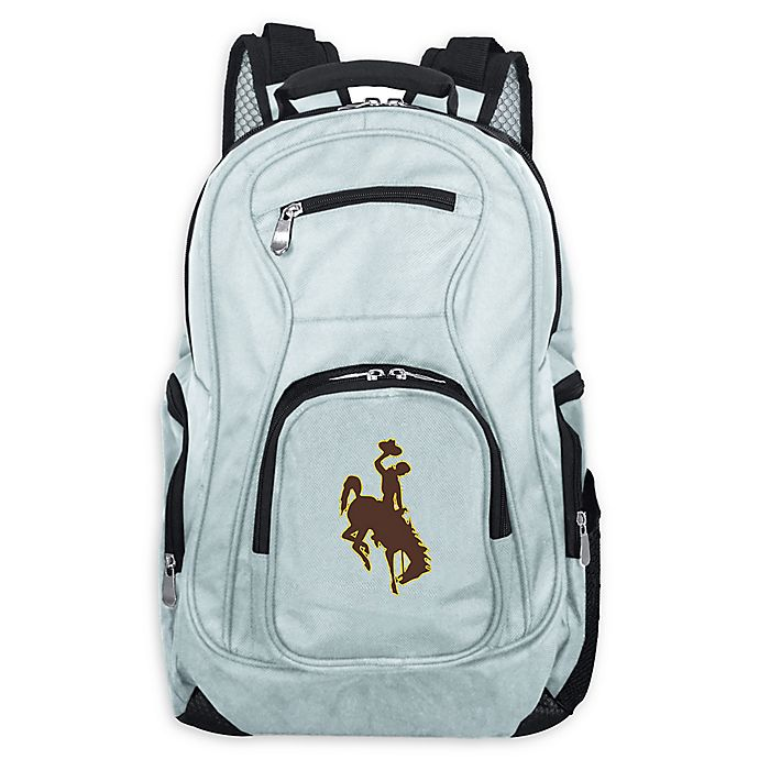 Alternate image 1 for University of Wyoming Laptop Backpack in Grey