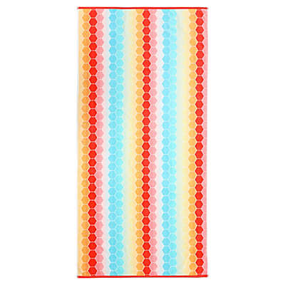 Honeycomb Velour Beach Towel
