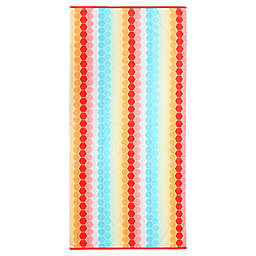 Honeycomb Velour Beach Towel