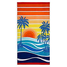 Retro Sunset Beach Towel