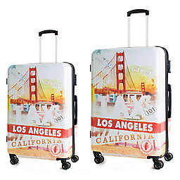 American Green Travel California Hardside Spinner Checked Luggage