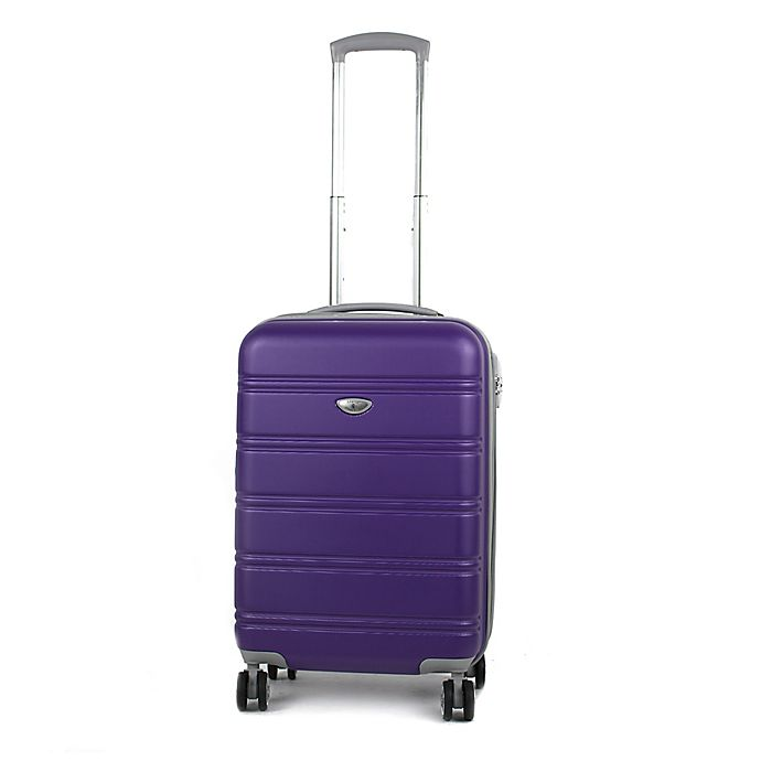 Alternate image 1 for American Green Travel Plateau 20-Inch Hardside Spinner Carry On Luggage in Purple