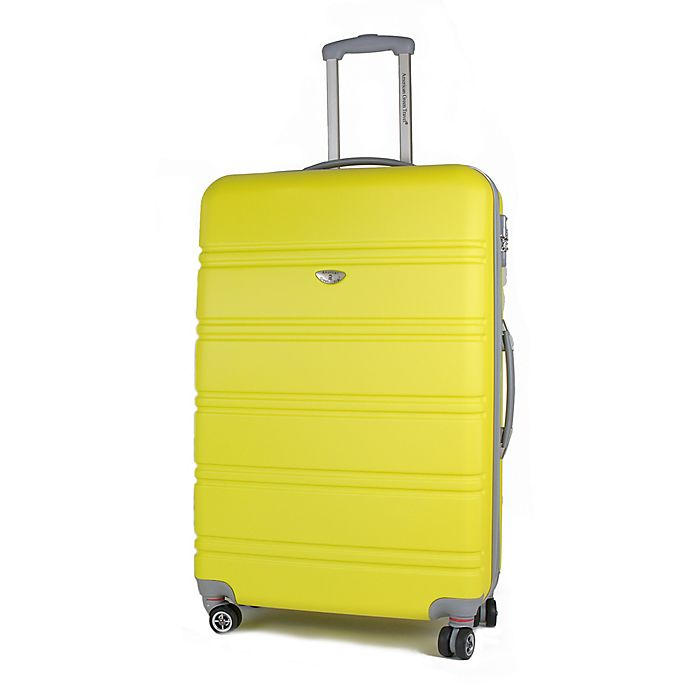 Alternate image 1 for American Green Travel Plateau 26-Inch Hardside Spinner Checked Luggage in Yellow