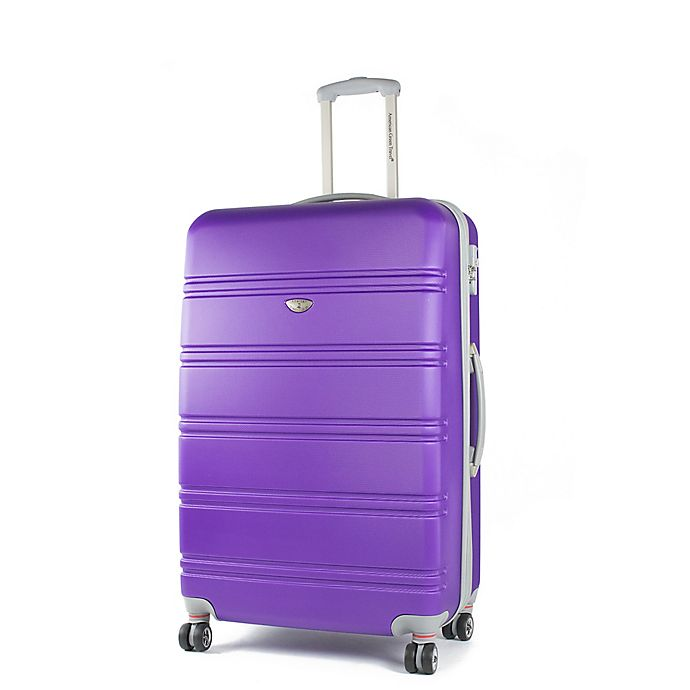 Alternate image 1 for American Green Travel Plateau 26-Inch Hardside Spinner Checked Luggage in Purple
